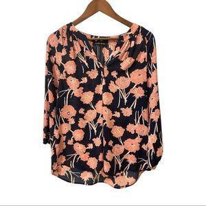 Ivanka trump floral v-neck blouse